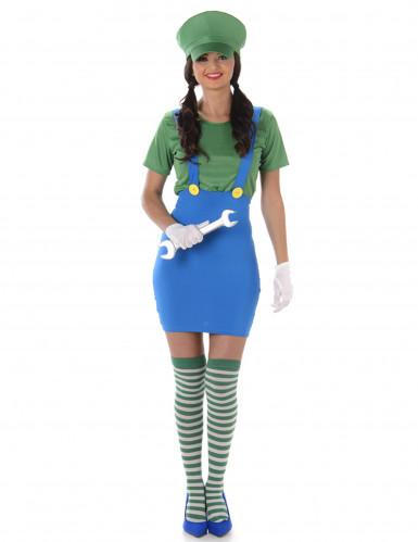 Groen loodgieter kostuum voor vrouwen