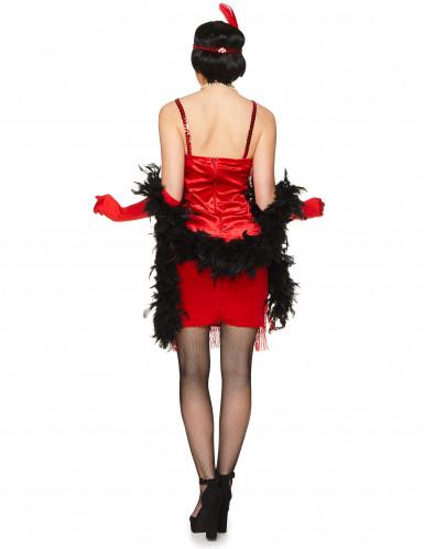 Rood charleston kostuum met franjes voor dames-2