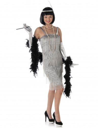 Zilverkleurige charleston jurk voor vrouwen