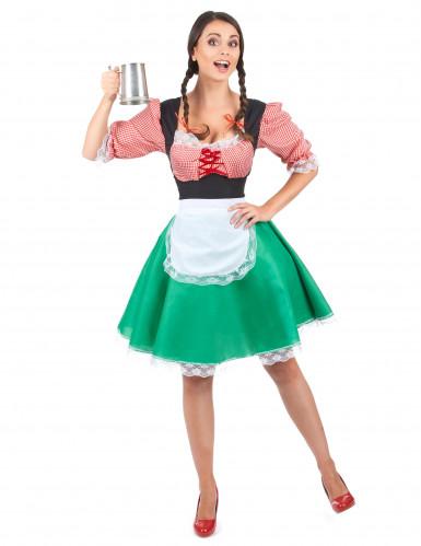 Meerkleurige dirndl jurk voor vrouwen