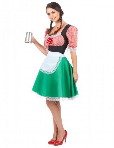 Meerkleurige dirndl jurk voor vrouwen-1