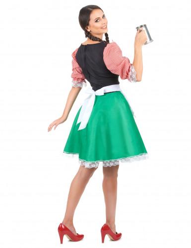 Meerkleurige dirndl jurk voor vrouwen-2