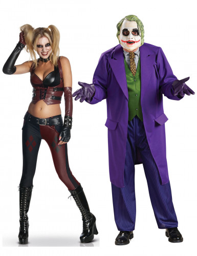 Harley Quinn™ en Joker™ koppelkostuums voor volwassenen