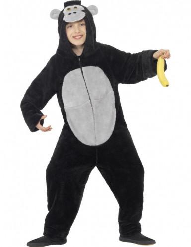 Zwart gorilla kostuum kinderen