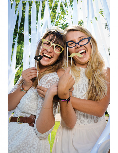 Zwart photobooth set met glitters-1
