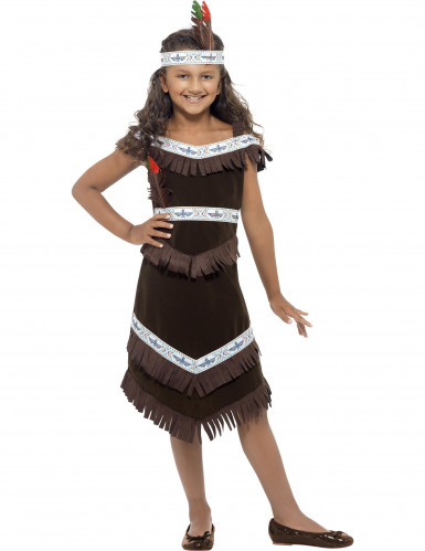 Bruine indianen outfit voor meisjes