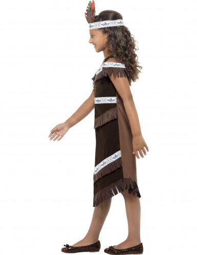 Bruine indianen outfit voor meisjes-2