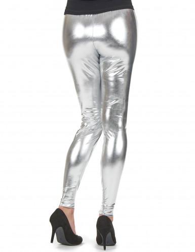 Zilverkleurige legging voor vrouwen-1