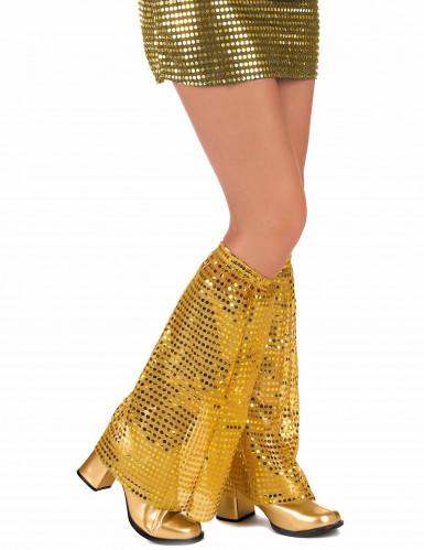 Goudkleurig disco beenwarmers voor volwassenen