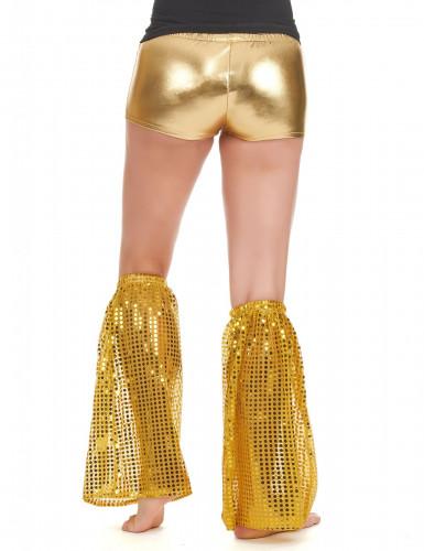 Goudkleurig disco beenwarmers voor volwassenen-1