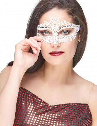 Wit kant masker voor volwassenen
