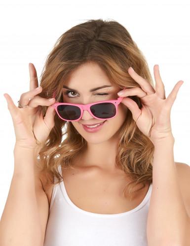 Fluo roze blues zonnebril voor volwassenen-1