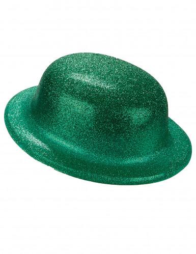 Groene glitterhoed volwassenen