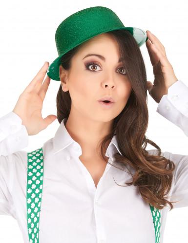 Groene glitterhoed volwassenen-1
