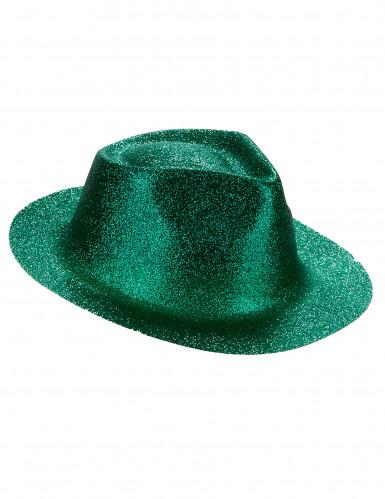 Groene glitter hoed voor volwassenen