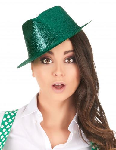 Groene glitter hoed voor volwassenen-1