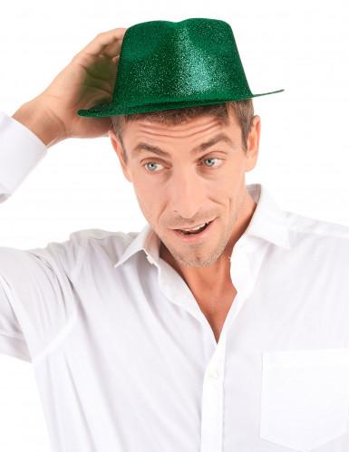 Groene glitter hoed voor volwassenen-2