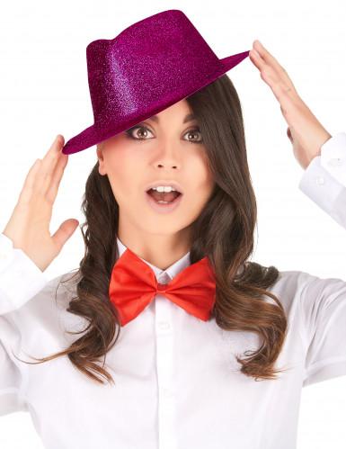 Donkerroze glitter hoed voor volwassenen-1