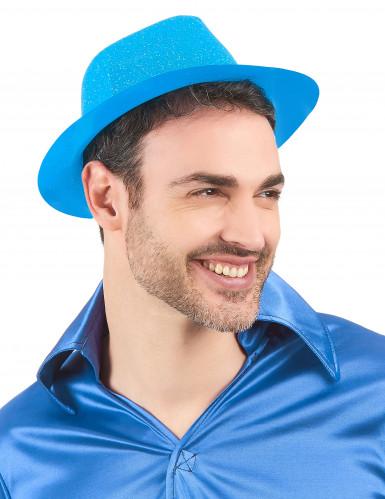 Blauwe glitterhoed voor volwassenen-1