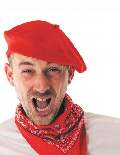 Rode Baskische baret voor volwassenen