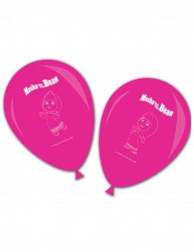 8 roze Masha en de Beer™ ballonnen
