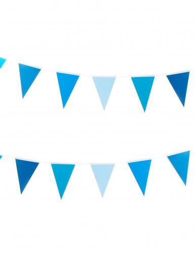 Blauwe kleine vlaggenslinger