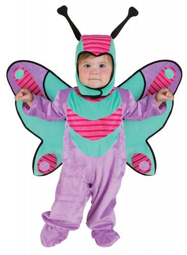 Paars vlinder kostuum voor baby's