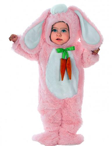 Roze konijnenkostuum met grote oren voor baby's