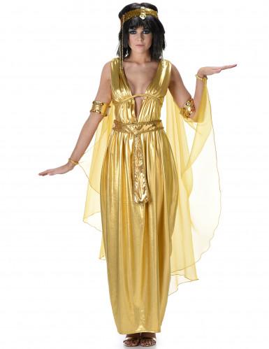 Goudkleurig Cleopatra kostuum voor vrouwen