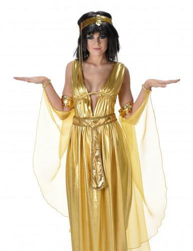 Goudkleurig Cleopatra kostuum voor vrouwen-1