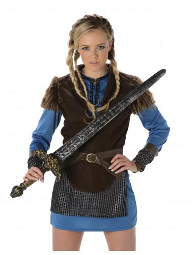 Blauw Viking kostuum voor vrouwen-1