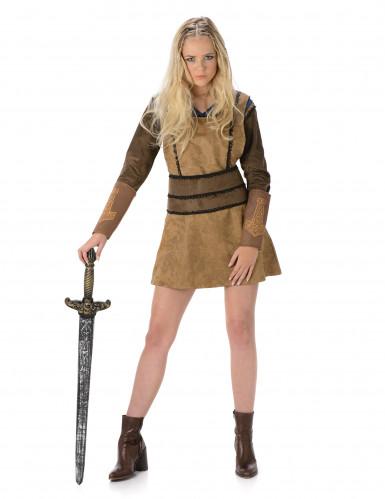 Bruin Viking kostuum voor vrouwen