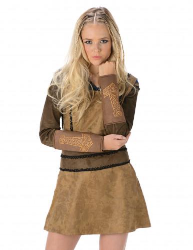 Bruin Viking kostuum voor vrouwen-1