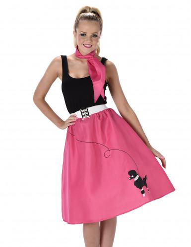 Fuchsia 50's kostuum voor vrouwen-1
