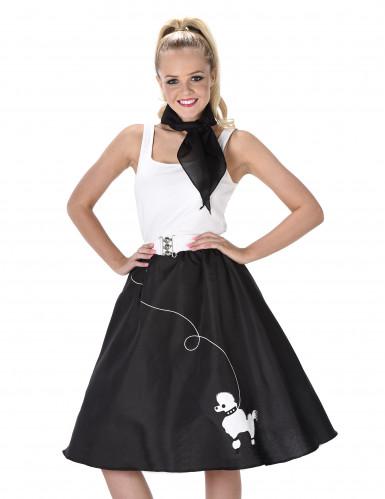 Zwart en wit retro jaren 50 kostuum voor vrouwen-1