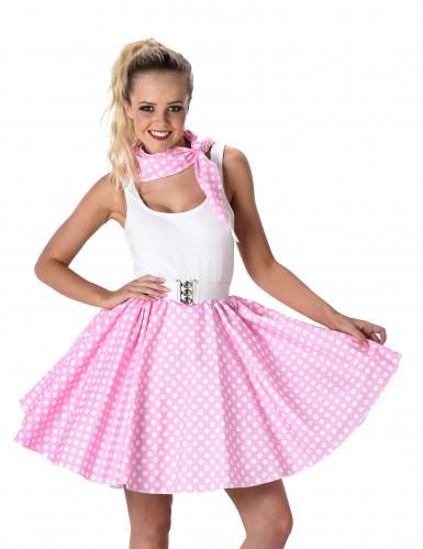 Licht roze 50's kostuum voorvrouwen-1
