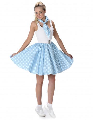 Blauw 50's kostuum voor vrouwen