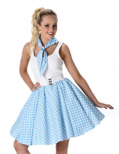Blauw 50's kostuum voor vrouwen-1