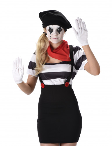 Retro mime kostuum voor vrouwen-1