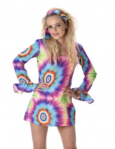 Retro hippie sixties kostuum voor vrouwen-1