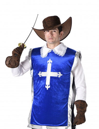 Donkerblauw musketier kostuum voor mannen-1