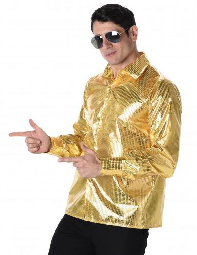 Gouden disco blouse voor mannen-1