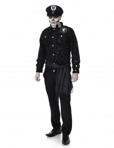 Zombie officier kapitein kostuum voor heren
