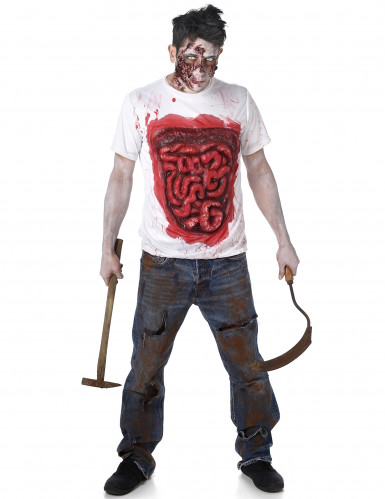 Zombie T-shirt met ingewanden voor volwassen