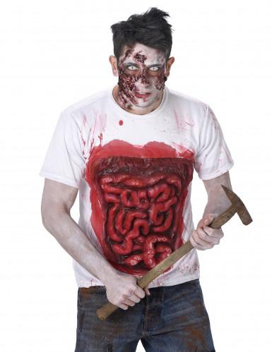 Zombie T-shirt met ingewanden voor volwassen-1