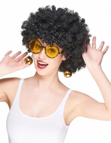 Goudkleurige discobril voor volwassenen-1