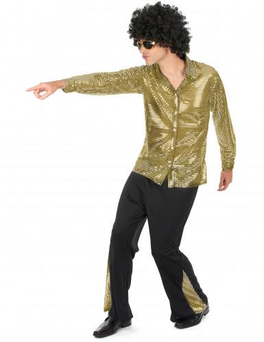 Gouden disco kostuum voor mannen-1