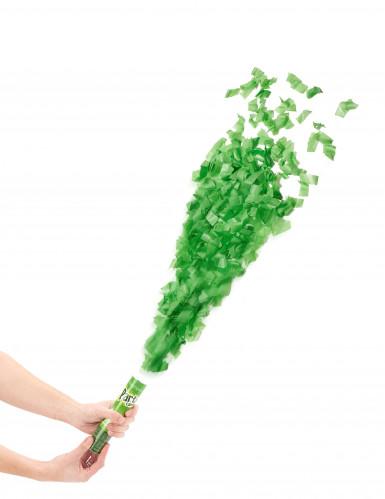 Groen confettikanon van 20 cm
