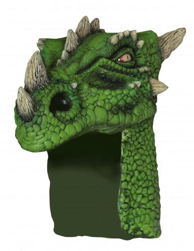 Groene drakenhelm voor volwassenen
