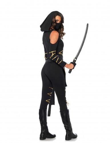 Goudkleurig draken ninjakostuum voor vrouwen-2
